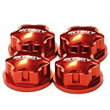 Integy RC Model Hop-ups C24456RED Billet Machined 17mm Hex Wheel Nut (4) for 1/8 Buggy, Truggy, SC & Monster Truck