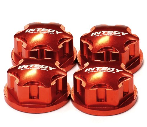 UPC 917890147640, Integy RC Hobby C24456RED Billet Machined 17mm Hex Wheel Nut (4) for 1/8 Buggy, Truggy, SC & Monster Truck