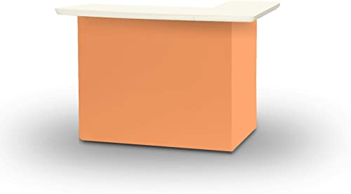 of Times 2000W1330 Solid Peach Portable Patio Table