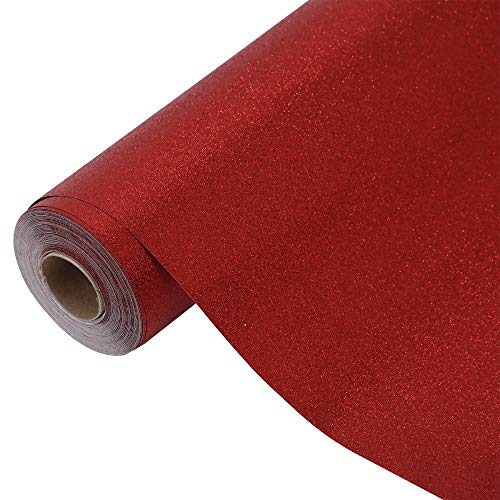 (Glitter Gift Wrapping Paper Roll with Special Tape,Wrap Paper,Valentine's Day Holiday,All Occasion Gift Wraps, Sold Individually(Red)- 30 inch X 480 inch (2.5 ft X 40 ft) by)