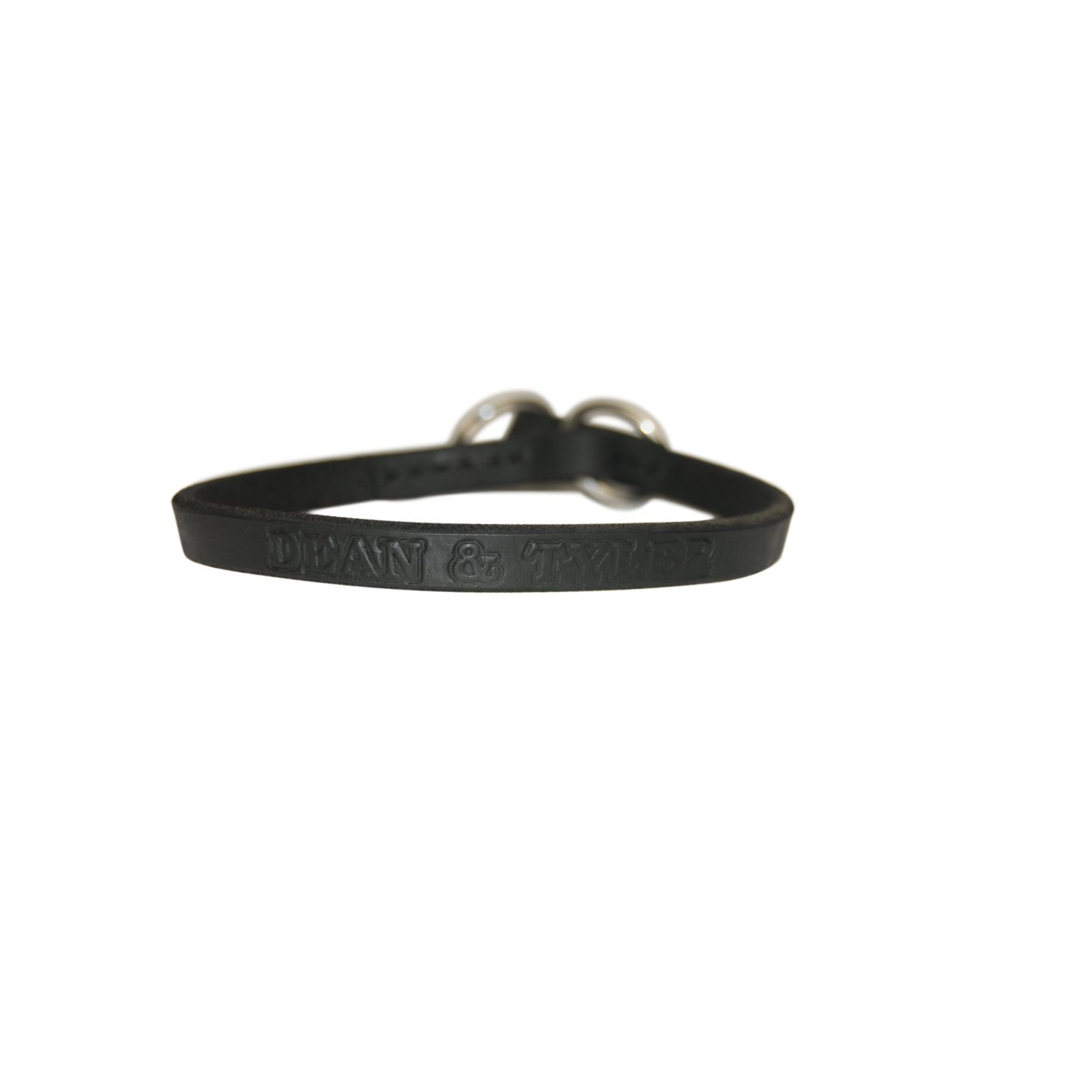 Dean and Tyler TRANQUILITY , Leather Dog Choke Collar with Stainless Steel Hardware Black Size 36-Inch by 3 4-Inch Fits Neck 34-Inch to 36-Inch