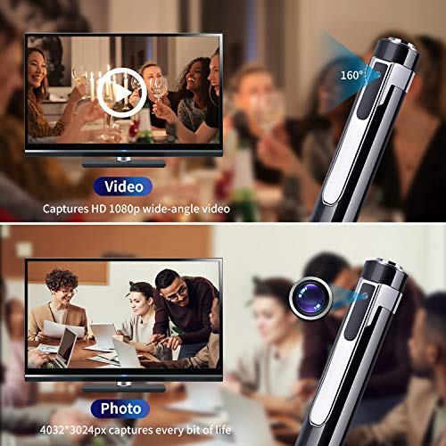 Hidden Video Camera Pen with HD 1080p. Nanny Spy Camera Pen with 32GB SD Card. ACMEZING Spy Camera Mini Hidden Pen with Wide-Angle Lens. Appropriate for Education, Business and More(Video Only)