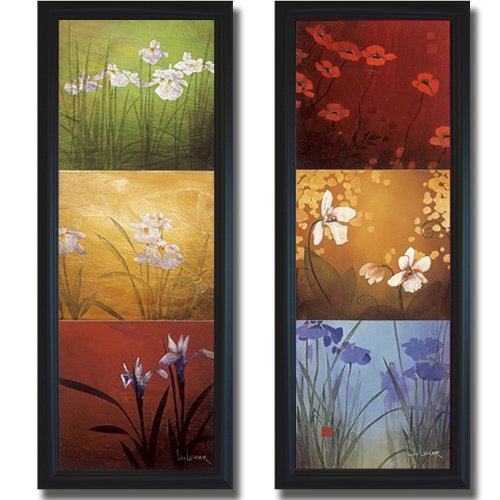Karma and Aura by Don Li-Leger 2-pc Premium Satin-Black Framed Canvas Set (Ready to Hang) ()