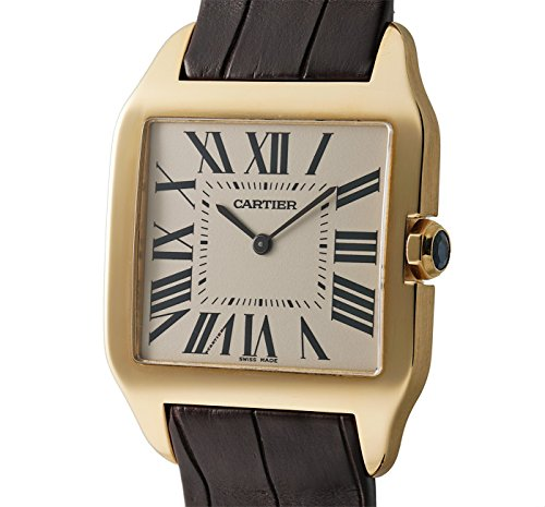 Cartier Santos Collection mechanical-hand-wind mens Watch W2008751 (Certified Pre-owned)