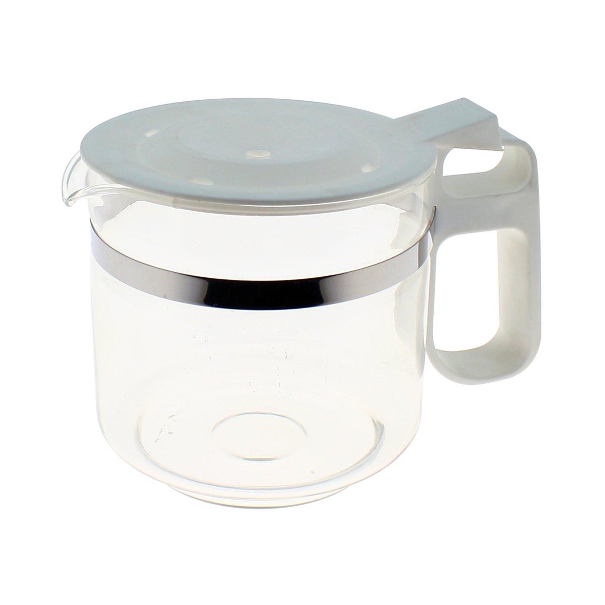 Jarra Color Blanca con tapa para cafetera: Amazon.es: Grandes ...