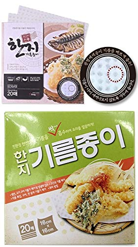 (60 Sheet) Oil-Absorbing Cooking Square Paper Fried Food,Tempura,Potato, Fish, Beignet,Chicken,all frying oil food (Approx. 8.87