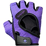 Harbinger Women's FlexFit Weightlifting Gloves with Flexible Cushioned Leather Palm (Pair)