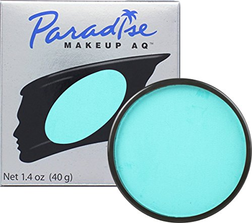 Clown Collection Costumes Makeup Kit (Mehron Makeup Paradise AQ Face & Body Paint, TEAL: Pastel Series – 40gm)