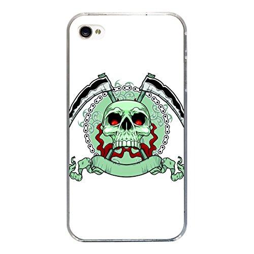 "Disagu Design Case Coque pour Apple iPhone 4s Housse etui coque pochette ""Killer Schädel weiss"""