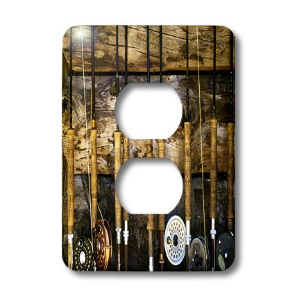 3dRose LLC lsp_60625_6 Country Fishing 2 Plug Outlet Cover by 3dRose (Image #2)
