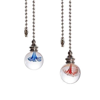 Amazon.com: Juego de 2 colgantes de cristal con diseño de ...