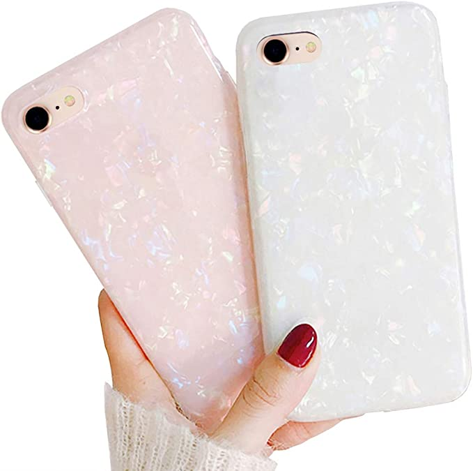 Llz Coque 2 Pack For Iphone 8 Iphone 7 Iphone Se 2020 Case For Girls Fashion