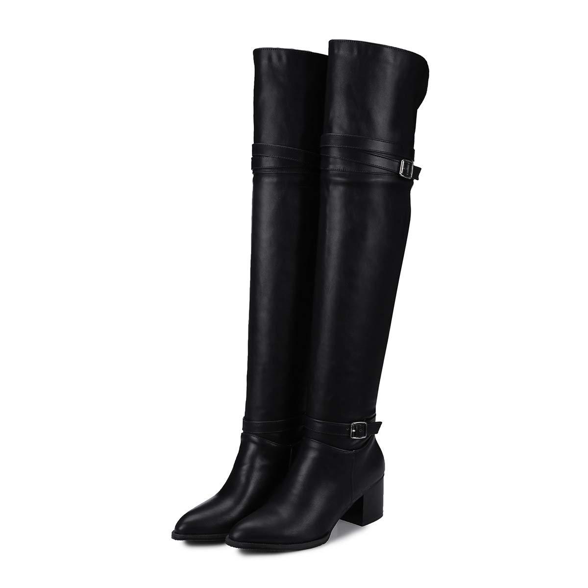 Grobe Fersen für Damen Hohe Knie-Lange Knie-Lange Hohe Stiefel 332834