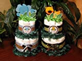 Product review for Wild Jungle Safari Elephant Lion Two Tiered Baby Shower Diaper Cakes - Handmade By LMK Gifts