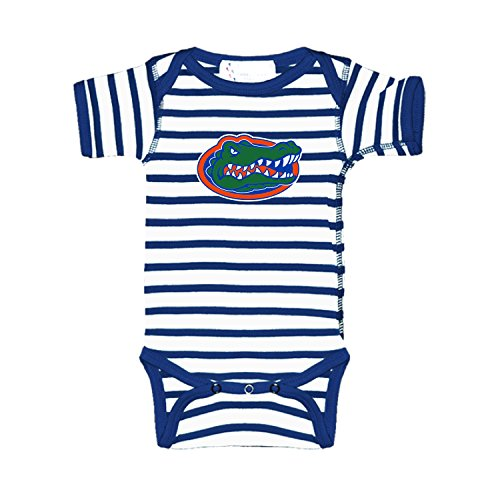 Florida Gators Blue Striped NCAA College Newborn Infant Baby Creeper (0-3 Months)