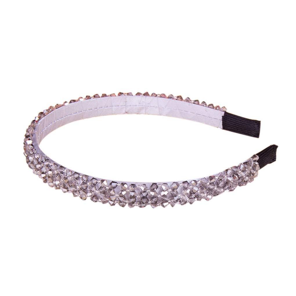 Bobury Clip Corona di cristallo Donne sposa fascia dei capelli della ragazza strass capelli della fascia del cerchio bacchetta monili Wedding Fascinator