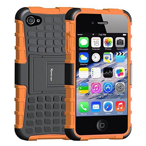 Shockproof Armor Case iPhone 4/4s (Orange) - 9