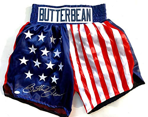 Eric Esch Autograph Custom Trunks Butterbean Boxer Signed COA - JSA Certified - Autographed Boxing Robes and Trunks Autographed Custom Boxing Trunks
