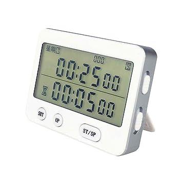 Q Reloj electrónico de Alarma Digital a Pilas con Pantalla LCD Digital, Despertador