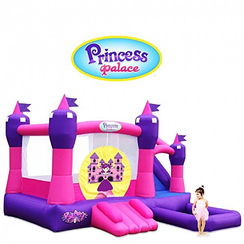 Princess Castle Bounce House - Blast Zone Princess Palace Combo Bouncer with Slide