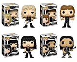Funko Music Pop Metallica James Hetfield Lars Ulrich Kirk Hammett Robert Trujillo Collectible Set