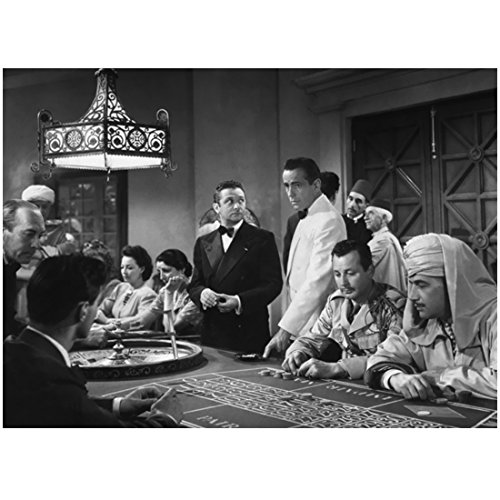 Casablanca Humphrey Bogart as Rick with Others in Casino 8 x 10 Inch Photo