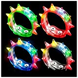 9.5″ Assorted Flashing Spike Bracelet Picture