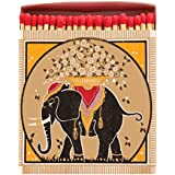 Gold Elephant Box of Large Superior Safety Matches by Archivist