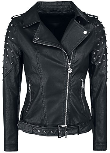 All Gothicana EMP Negro Chaqueta Negro Mujer The by Over Road E11gWq7