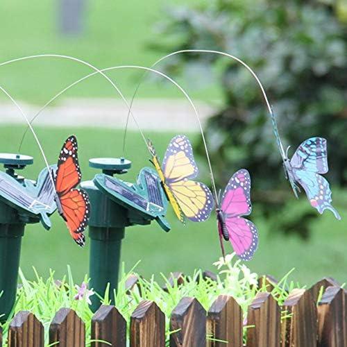 INFILM 2 unidades de mariposas voladoras solares y a pilas para decoraci/ón de jard/ín o patio