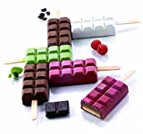 Hot Sale! Ice Cream Tools Popsicle Mold Ice Trays Lattice silicone Ice Maker, Stackable Miniature Ice Cube Tray for Mini Fridges, RV/Marine Freezers, Dorm Freezers and Small Freezers (Hot pink)