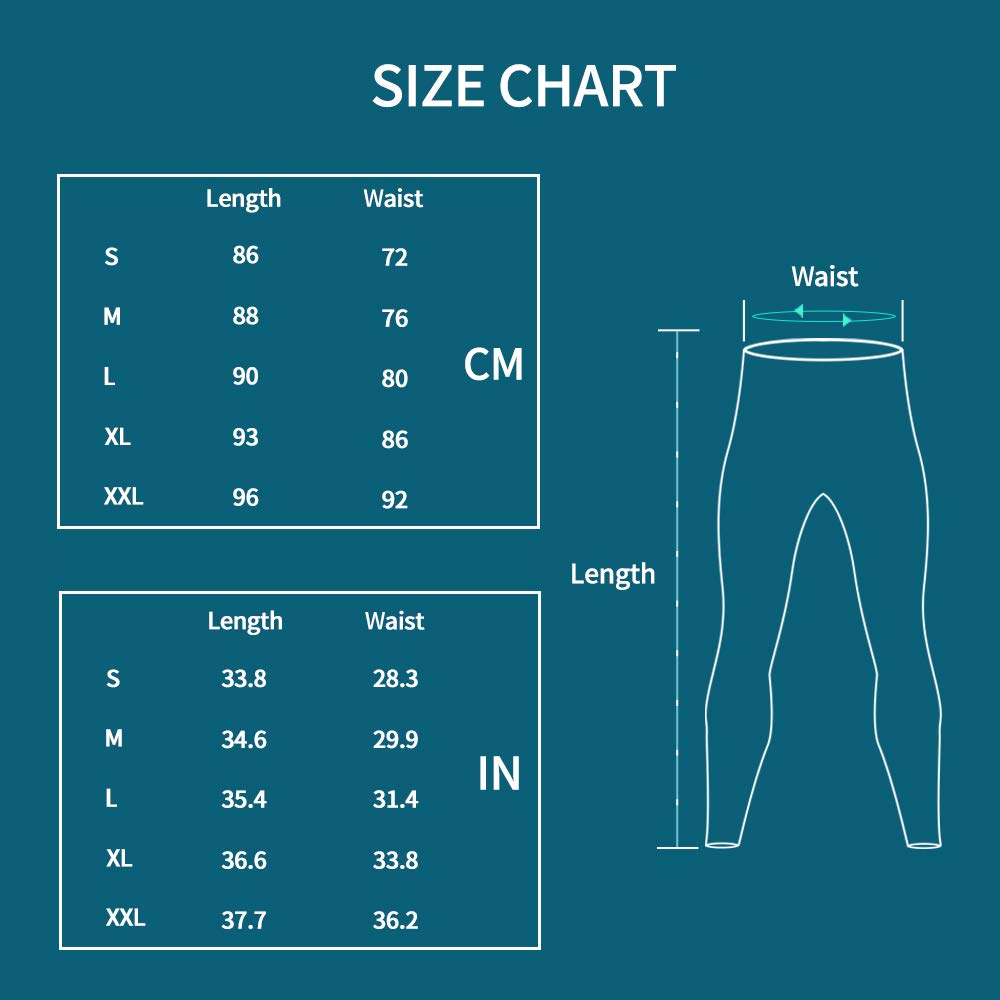 Compressione Calzamaglia Baselayer Pantaloni Sportivo Tights for Gym Jogging Running MEETWEE Leggings Uomo