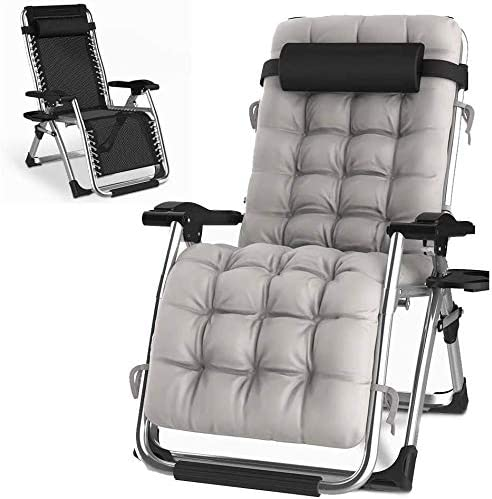 HITO Outdoor Lounge Chairs Sun Loungers Zero Gravity Chairs Adjustable Padded Lounger Chair
