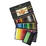 Faber-Castell Polychromos Artist Colored Pencils Set - Tin of 120 Colors - Premium Quality Polychromos Colored Pencils 120 Set Art Supplies Set Sales Today for Arts and Crafts w/ 5x7 Sketch Book