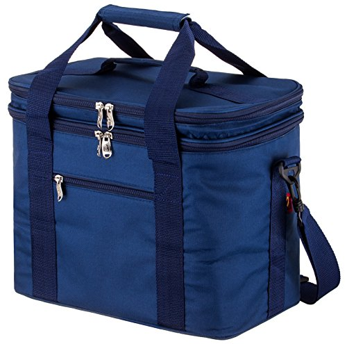 Msicyness Extra Large Lunch Bag for Adult Double Decker Compartment Cooler Bags with Internal Tableware Placement Device Set Insulated Coolers Box for Men and - Insulation Extra