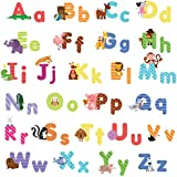 Animal Alphabet Wall Decals - Baby and Toddler Wall Decor - Fun abc Wall Stickers for Nursery and Kids Rooms