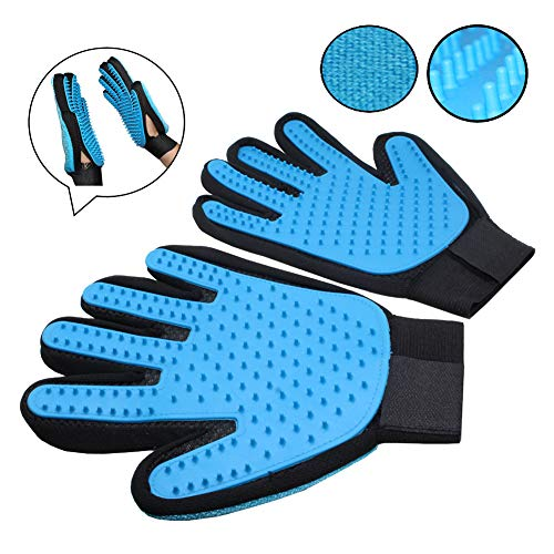 Coolais Dog Cat Fur Remover Glove Pet Grooming Gloves Message Tool Grooming Brush Dogs Cats Horse Bunnies (1 Pair) PGG-02 by Coolais