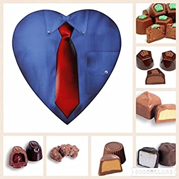 Amazon sugar free fathers day assorted chocolate 8 oz shirt sugar free fathers day assorted chocolate 8 oz shirt heart box by diabetic candy perfect negle Gallery
