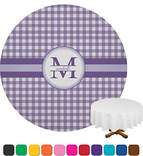 Gingham Personalized  Round Tablecloths