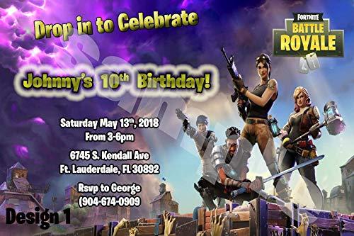 FortNite Video Game Personalized Birthday Invitations More Designs Inside!