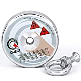 """888lb Fishing Magnet - Super Strong Pull Force Neodymium Magnets (402kg) - Recover Objects from Rivers & Lakes (3.54"""" ; 90mm)"""