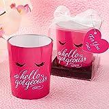 FavorOnline Hello Gorgeous Hot Pink Flirty Votive Candles, 144