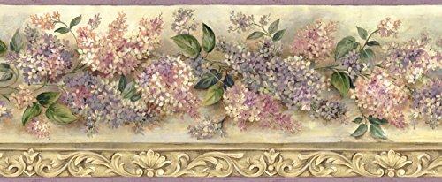 (Chesapeake BBC20041B Ethel Sand Heirloom Lilacs Trail Wallpaper Border, Pink)