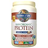 Garden of Life Raw Organic Protein Vanilla Chai Powder, 20 Servings, Certified Vegan, Gluten Free,...