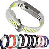 Wishta Fitbit Alta Bands, Newest Adjustable Replacement Bands for Fitbit Alta/ Fitbit Alta band/ Fitbit Alta Bands (No Tracker) (White/Fluorescent yellow) (Misc.)
