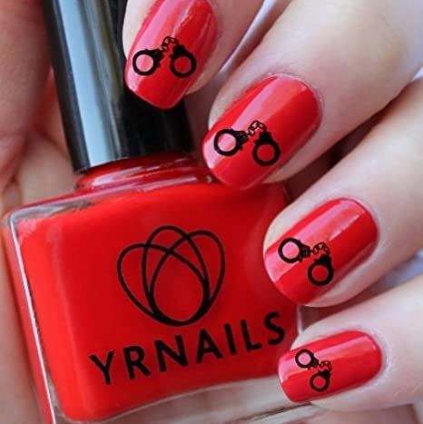 Sexy Kinky Handcuffs Nail Decals by YRNails: Amazon.co.uk: Beauty