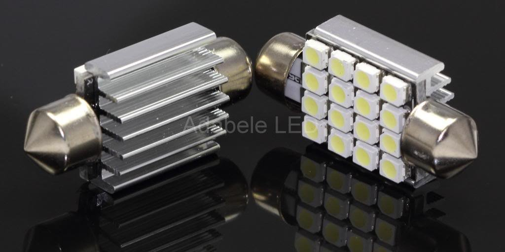 Galleon - 2 CAN BUS White 1210 16 LED Map Dome Light Bulb