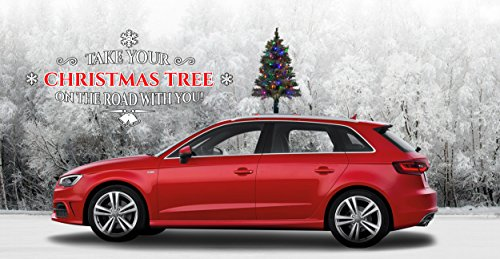 The Car Top Christmas Tree - The Only Christmas Tree for Your Car, Van Or Truck | Quick and Easy Installation | Colored LED Lights | Super Safe & Secure | Folds for Garages | Weatherproof