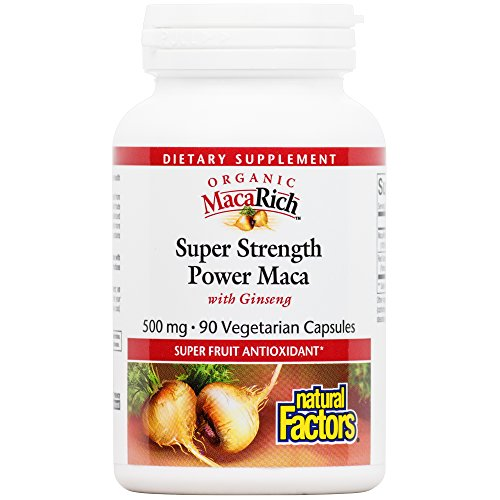 Power Ginseng - Natural Factors - MacaRich Super Strength Power Maca, Antioxidant Support, 90 Vegetarian Capsules