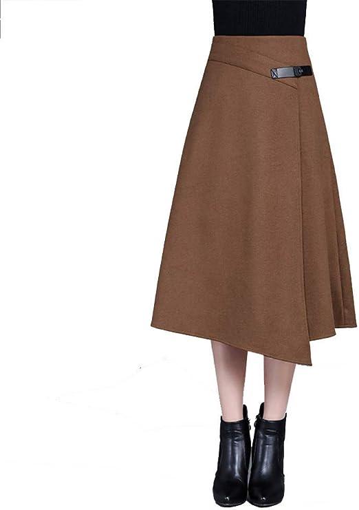 FuweiEncore Faldas de Invierno para Mujer, Faldas largas, Faldas ...